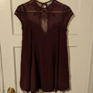 Kimchi Blue Size S Maroon Lace Top Dress